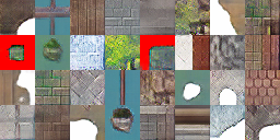 2D Tiles Generated by a GAN